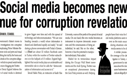 Social media becomes new venue for corruption revelations-Today's Zaman