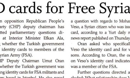 ID cards for Free Syrian Army questioned by CHP -Today's Zaman