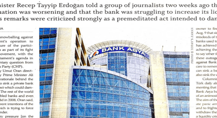 Government's Bank Asya operation  brought to parliamentary agenda-Today's Zaman